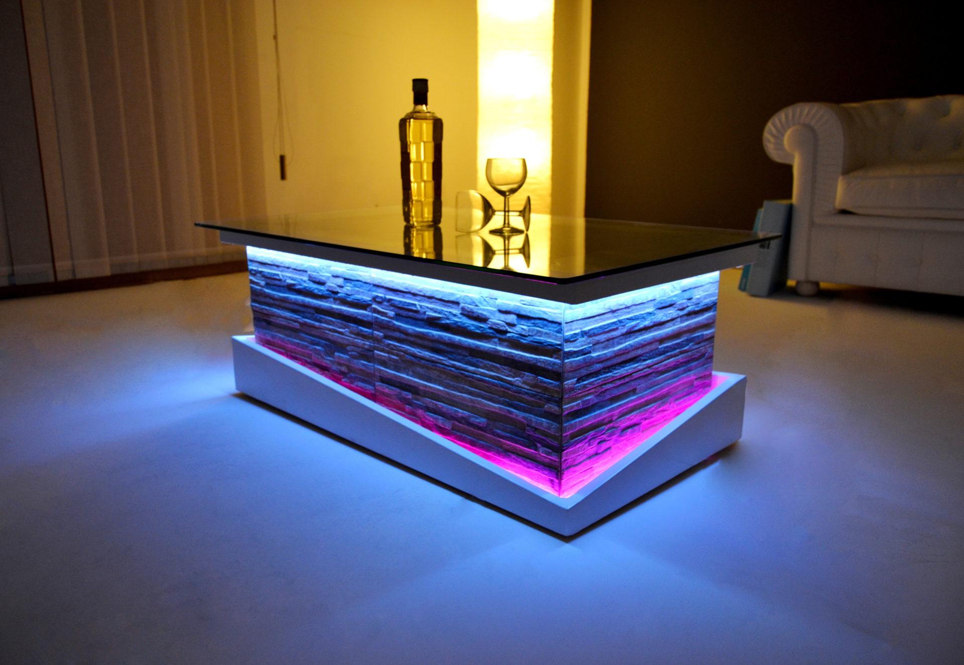 Tavolino da salotto rustico in vetro o contenitore for Tavoli moderni da salotto
