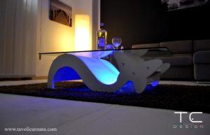 tavolini da salotto in legno e vetro