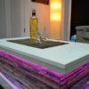 Stone storage coffee table led
