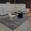 tavolini da salotto bianco e nero modello twist