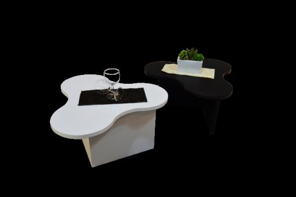 tavolini da salotto bianco e nero modello twist3