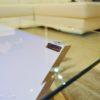 tavolino salotto in vetro vanity led