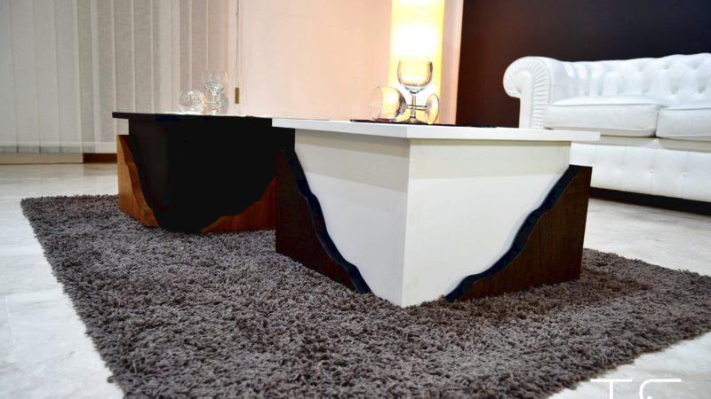 tavolini bassi bianchi
