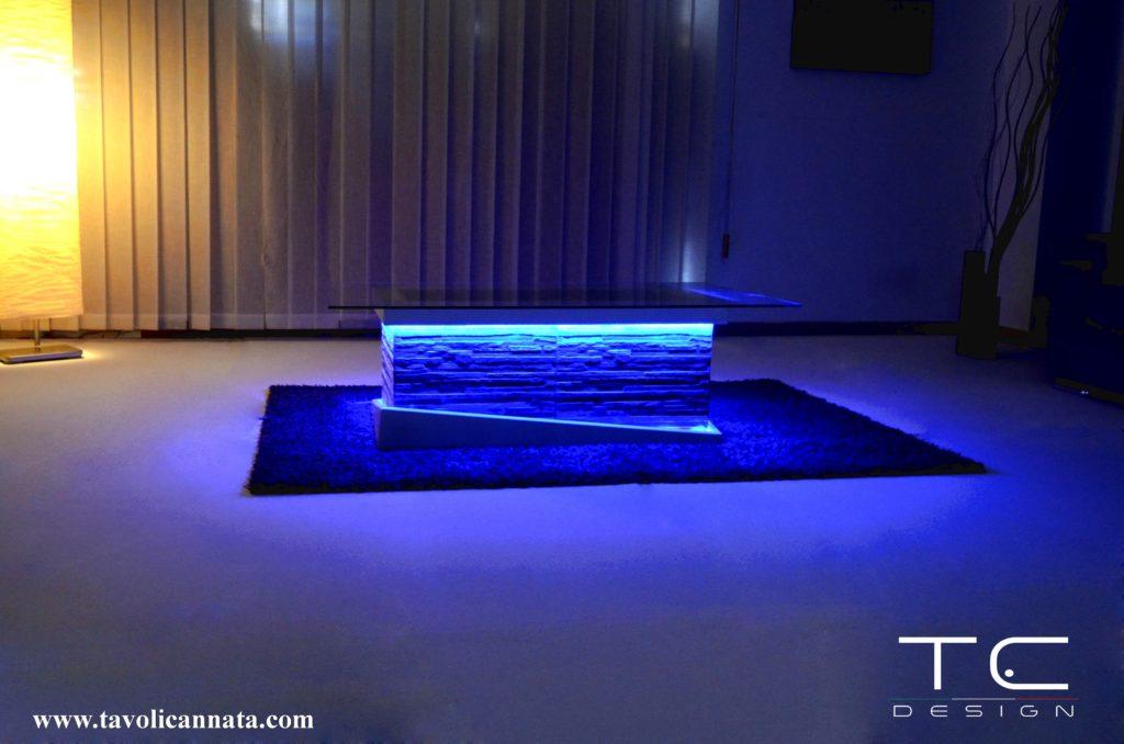 Tavolini bassi per soggiorno moderni in legno e vetro ...