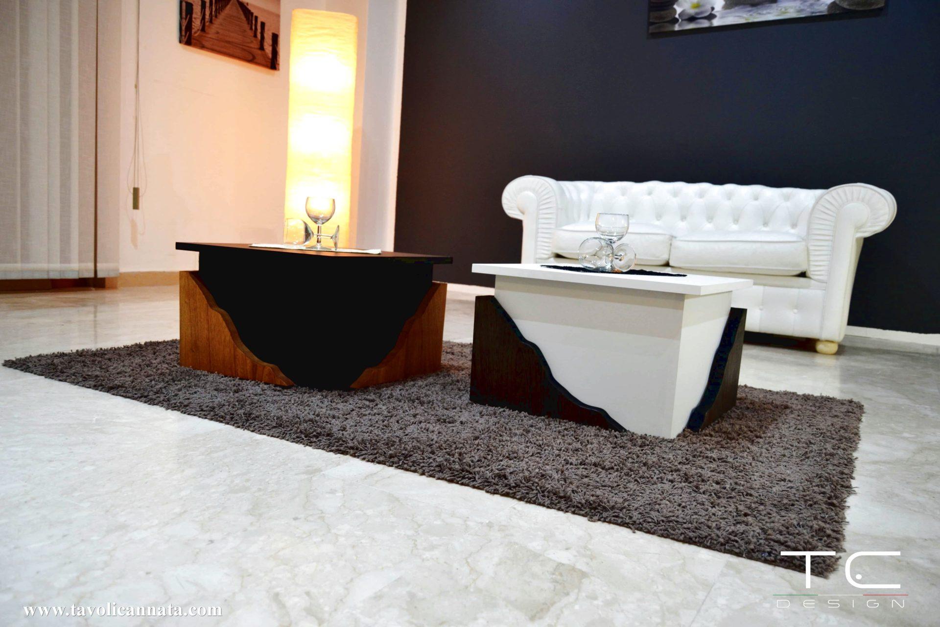 Tavolini da salotto bianchi di design - Tavolini Cannata