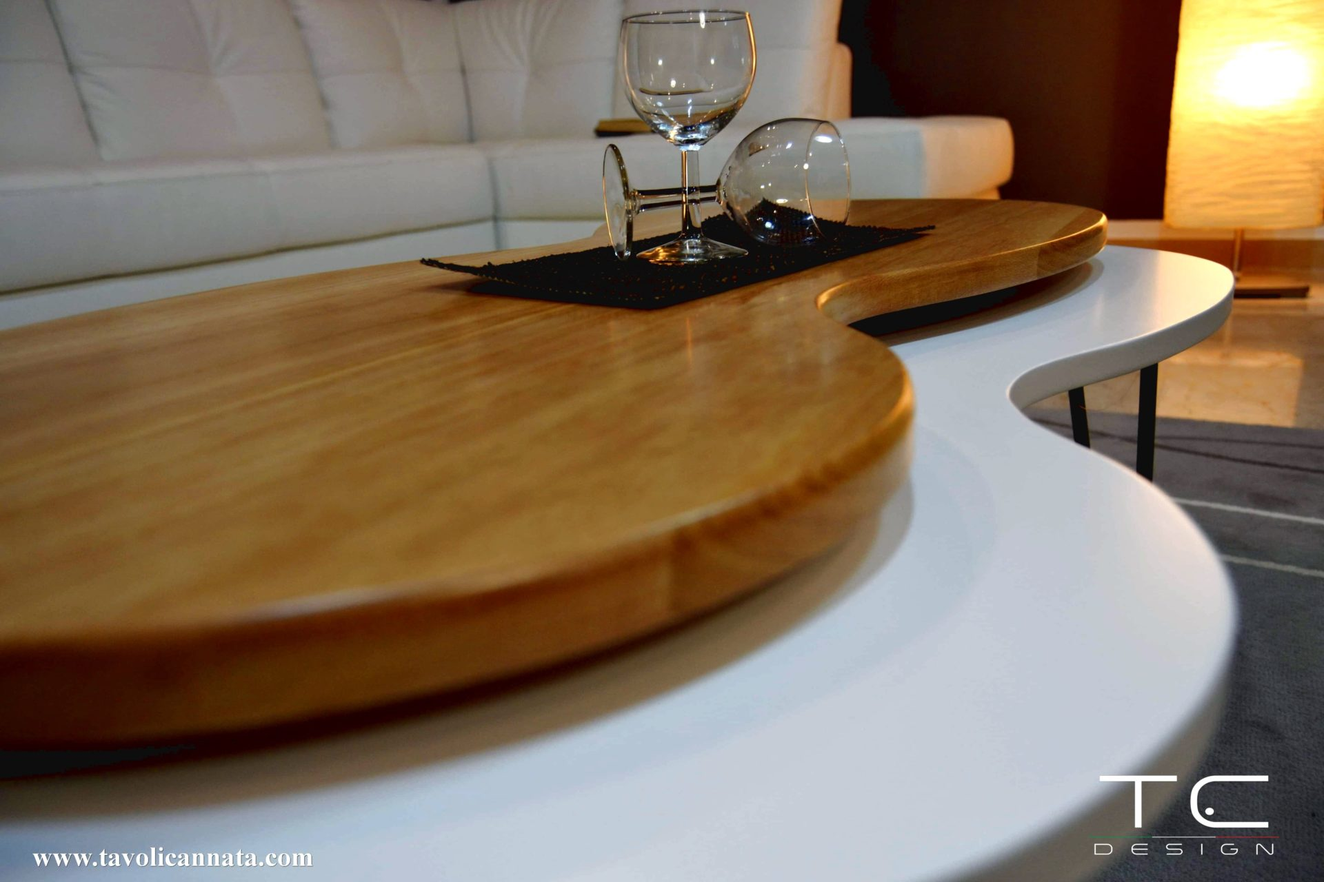 Tavolini moderni in legno per salotto - Tavolini Cannata