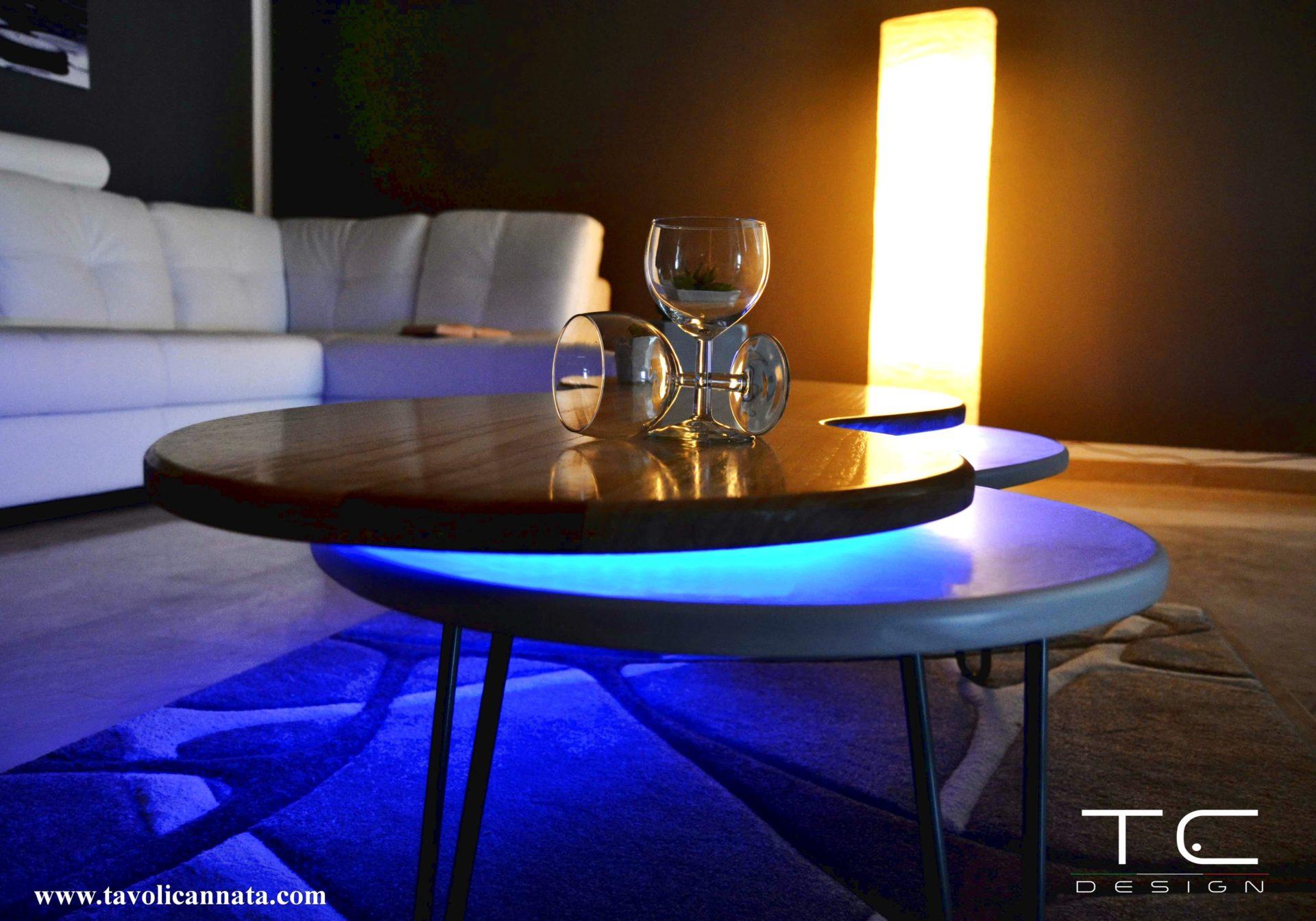 Tavolini per soggiorno in legno moderni - Tavolini Cannata