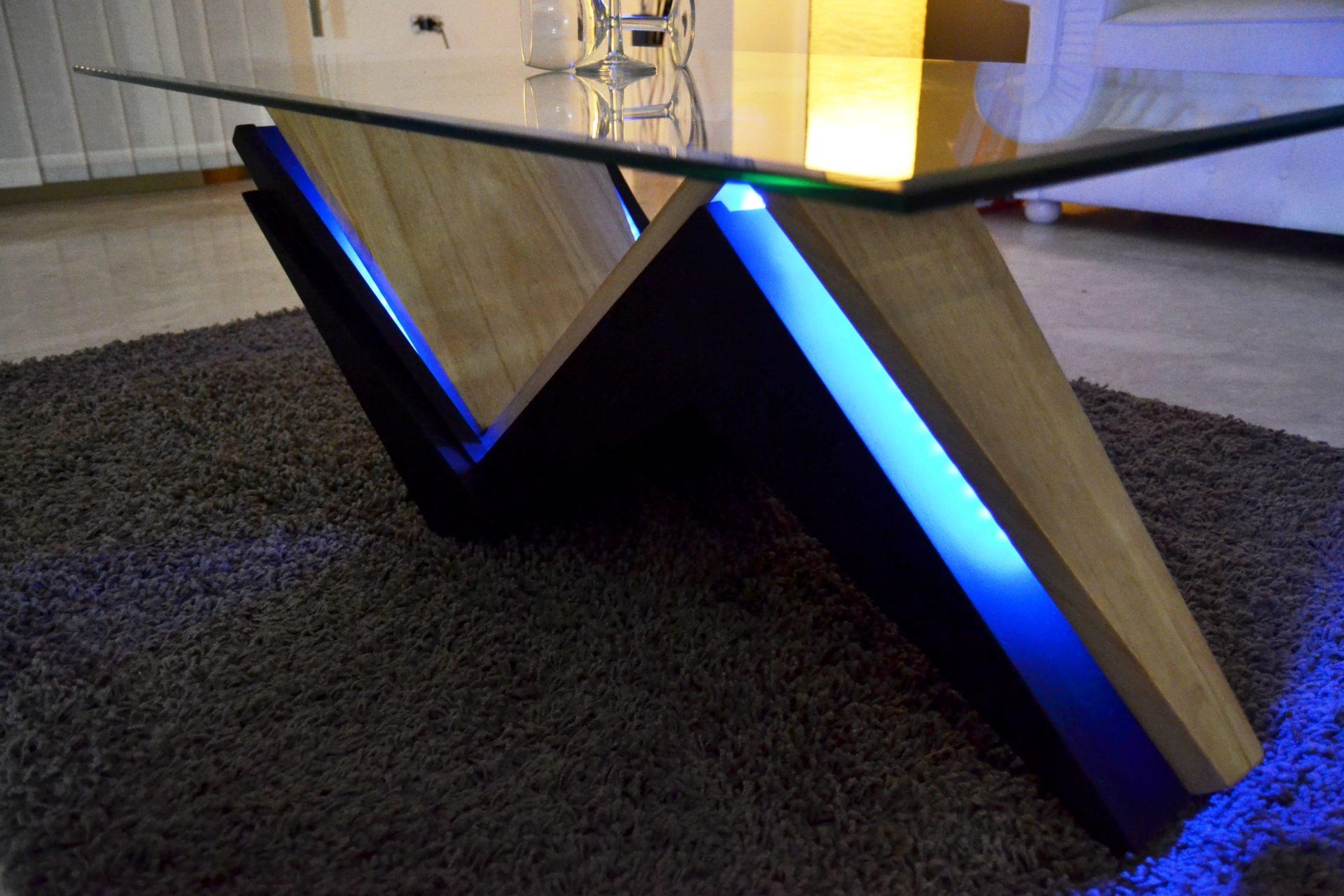 Led Coffee Table Black Modern Design Tavolini Cannata