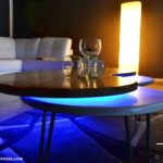 led small coffee table